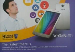 V-Gen S1, Smartphone Lokal Terbaru CPU Octa Core