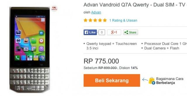 Advan Vandoid Q7A