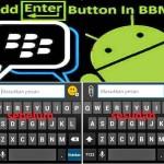 Cara Menambah Tombol Enter di BBM Android