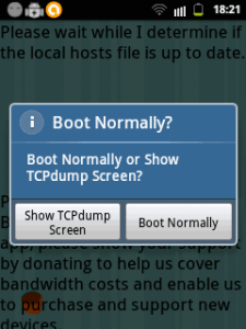boot normally